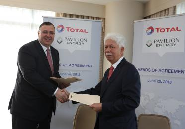 Total and Pavilion Energy Developing LNG