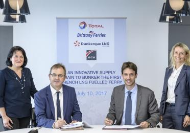NEW CONTRACT TO SUPPLY LIQUEFIED NATURAL GAS TO THE FIRST FRENCH LNG-POWERED CRUISE FERRY