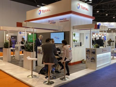 Total's booth at Euromaritime 2020