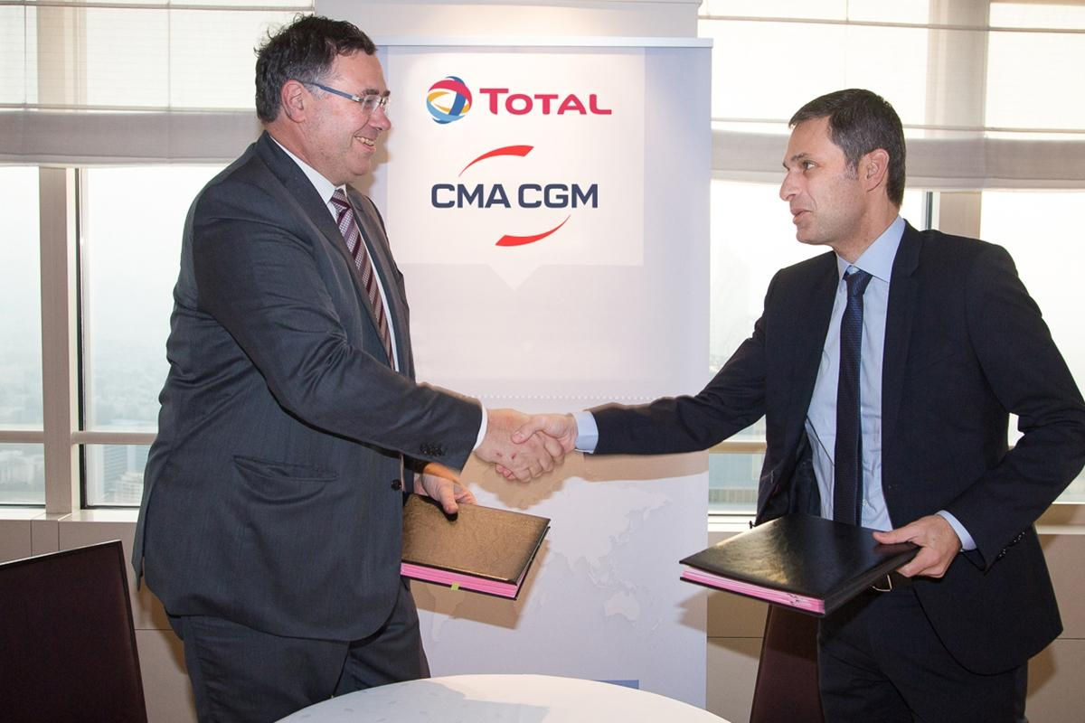 Patrick Pouyanné, Agreement TOTAL & CMA-CGM