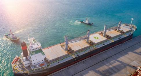 Cargo ship unberthing